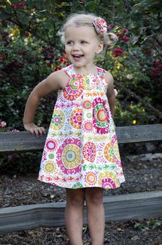 sewsweetpatterns - etsy Sweet & simple sewing patterns for kids & dolls Harper Reversible Dress (Sizes months to Sewing E-Pattern and Tutorial Childrens Sewing Patterns, Kids Patterns, Sewing Patterns Free, Free Sewing, Clothing Patterns, Pattern Sewing, Dress Patterns, Sewing Kids Clothes, Sewing For Kids