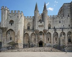 Main entry to the Palace of the Popes in Avignon, France 14th century CE | Flickr - Photo Sharing!