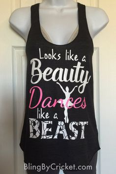 Ballet Shirt Dance Tank Top Looks like a by BlingByCricket