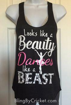 Ballet Shirt Dance Tank Top Looks like a by BlingByCricket