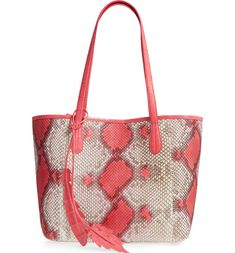 Shop Nancy Gonzalez at Bergdorf Goodman. Explore our selection of crocodile handbags and shoes for women, by the Columbian designer. Shopper Tote, Tote Purse, Tote Bags, Animal Print Purses, Nancy Gonzalez, Pink Handbags, White Handbag, Python, Pouch