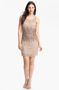 Adrianna Papell Embellished Mesh Dress available at Nordstrom #Nordstromweddings