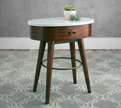 Asher Marble Bedside Table | Pottery Barn