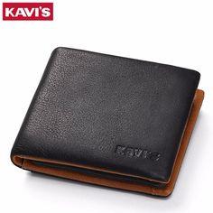 0e507e2a7a86 KAVIS Genuine Leather Wallet Men Coin Purse Male Cuzdan Small Walet  Portomonee PORTFOLIO Slim Mini Perse