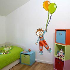 sticker medidor de tamanho menino com balões