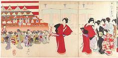 Toyohara Chikanobu (Japanese, 1838–1912). Chiyoda Castle (Album of Women), 1895. Japan. The Metropolitan Museum of Art, New York. Gift of Mrs. W. Walton Butterworth, 1979 (JP3529) #reddress