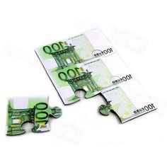Creative Euro Puzzle Coasters Eva Insulation Cup Mat - White + Green (6 PCS)