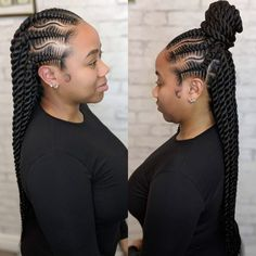 All styles of box braids to sublimate her hair afro On long box braids, everything is allowed! For fans of all kinds of buns, Afro braids in XXL bun bun work as well as the low glamorous bun Zoe Kravitz. Box Braids Hairstyles, Braided Hairstyles For Black Women, My Hairstyle, Cool Hairstyles, Hairstyles Videos, Layered Hairstyles, Elegant Hairstyles, Hair Updo, Short Box Braids