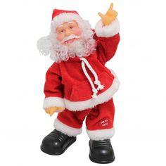 Mikuláš svojím spevom a tancom obdarí celú domácnosť dobrou náladou a postará o tú správnu vianočnú atmosféru. Rozmery: (výška x priemer) 31cm x Ø 13cm Materiál: Textil, PVC Malý vypínač ON - OFF na chrbte Napájanie: 4 x R3 AA batérie (batérie nie sú súčasťou balenia) Christmas Decorations, Holiday Decor, Baby Kind, Ronald Mcdonald, Elf, Fictional Characters, Music And Movement, Home Decoration, Elves