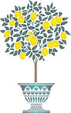 Lemon Tree Stencil
