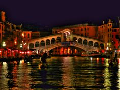 It could only really be one place in the world, & it is:  #Venice by night