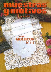 Muestras y Motivos Ganchillo Con Graficos No 113 Doilies, centerpieces, etc