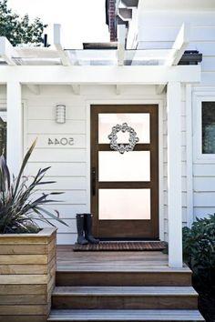 Modern farmhouse front door entry