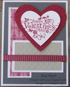 You Are Loved Valentine by Sue Root by Crazy Stamp Lady - Cards and Paper Crafts at Splitcoaststampers