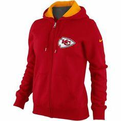 Nike Kansas City Chiefs Women s Tailgater Full Zip Hoodie - Red acf1d20bb