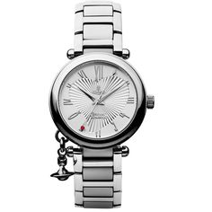 Vivienne Westwood Orb Watch (12,450 PHP) ❤ liked on Polyvore featuring jewelry, watches, heart shaped jewelry, vivienne westwood jewelry, roman numeral watches, vivienne westwood jewellery and stainless steel charms