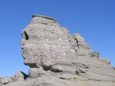 The Sphinx is a natural rock formation in the Bucegi Natural Park which is in the Bucegi Mountains of Romania. It is located at an altitude of metres ft), a walk from the Babele. Statues, Romania Travel, Carpathian Mountains, Rock Formations, Ancient Aliens, Amazing Nature, Cool Places To Visit, Mother Nature, The Good Place