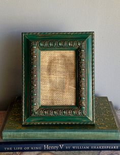 Picture Frame Ornate Wood Recycled Painted by PippinPost on Etsy, $22.00