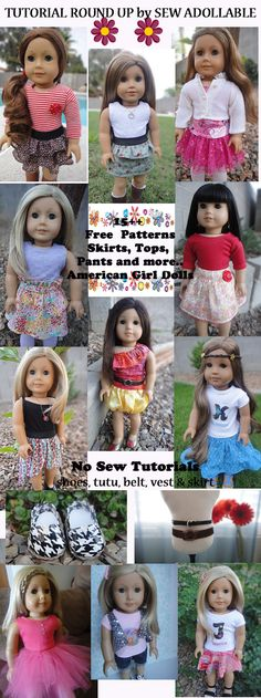 free patterns/tutorials for AG dolls