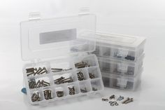 Organize all your hardware to make them easy to find. This saves building time and prevents hangar rash. RTL Fasteners (www.rtlfasteners.com) have lots of excellent hardware and handy organizer boxes.
