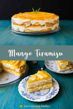 Summer Desserts, Sweet Desserts, Just Desserts, Sweet Recipes, Delicious Desserts, Yummy Food, Tropical Desserts, Health Desserts, Mango Tiramisu Recipe