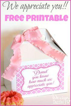 we appreciate you free printable
