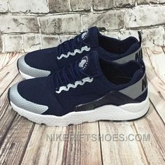 4818ceda838d Cheap 2015 Nike Air Huarache Mens Running Shoes Navy Blue Gray