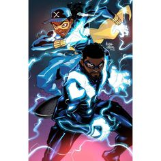 """marcusthevisual: """"Gonna put out some crossovers that challenge a few tropes by showing them in a """"cooler"""" light. I know they've teamed up in the past, but here's Black Lightning and Static Shock. Black Anime Characters, Dc Comics Characters, Dc Comics Art, Black Lightning Static Shock, Black Lightning Tv Show, Comic Book Heroes, Comic Books Art, Comic Art, Dc Heroes"""