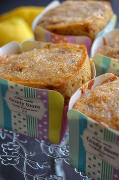 Lemon Scented Squared Muffins