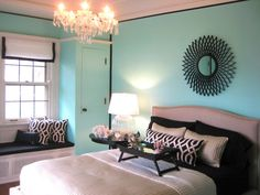 I Love Tiffany Blue Wall Paint Painted My Bedroom In December Need This Chandelier
