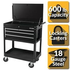 The Husky 56 in. D with 23 drawers Tool Chest and Cabinet Set is a heavy duty, steel, tool storage unit that is rated for lb. This tool chest and cabinet set Built In Storage, Tool Storage, Garage Storage, Storage Cart, Wood Garage Kits, Steel Garage, Mobile Tool Box, Garage Packages, Garage Workshop Organization