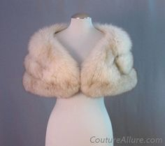 Vintage 50s Fox Fur Stole Genuine Cape Wrap