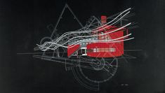 tschumi Parc La Villette, La Villette Paris, Architecture Drawings, Concept Architecture, Factory Architecture, Architecture Graphics, Chinese Architecture, Architecture Student, Bernard Tschumi