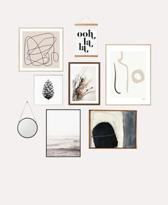 We're always looking for cheap and easy DIY wall decor ideas. A DIY gallery wall.We're always looking for cheap and easy DIY wall decor ideas. A DIY gallery wall is the perfect way to display Gallery Wall Bedroom, Gallery Wall Layout, Bedroom Wall, Gallery Walls, Gallery Wall Art, Gallery Wall Staircase, Modern Gallery Wall, Gallery Frames, Creative Wall Decor