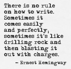 Hemingway on writing - Quotes for authors & writing inspiration -- quotes about writing and fiction Writing Advice, Writing Resources, Writing Help, Writing A Book, Writing Prompts, Writing Guide, Writing Poetry, Article Writing, Essay Writing