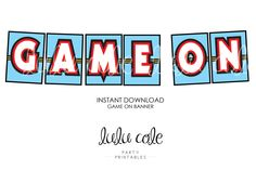 Game Truck Party Banner BLUE | Game Truck | Video Gamer | INSTANT DOWNLOAD | LuluCole by lulucole on Etsy