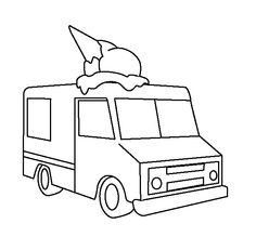 Free Coloring Page Of An Ice Cream Truck Color In This Picture And Share It With Others Today