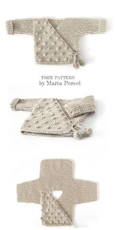 Baby Kimono jacket Legging Set free knitting pattern knitting pattern for garter stitch Baby layette-Baby sweater, baby pants, beanie, and 2 types of Booties knit in Strumpfbandstic Baby Knitting Patterns, Baby Patterns, Free Knitting, Crochet Patterns, Loom Knitting, Vogue Patterns, Vintage Patterns, Sewing Patterns, Baby Outfits