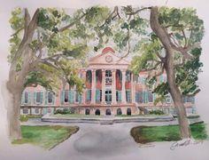 College of Charleston Original Watercolor Painting