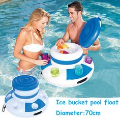 Inflatable Water Ice Bucket Beer Drink Supplier Pool Float Swimming Float For Adult Raft Swim Ring Summer Water Fun Pool Toys - Kid Shop Global - Kids & Baby Shop Online - baby & kids clothing, toys for baby & kid Floating Drink Holder, Floating Cooler, Floating In Water, Floating Island, Lake Toys, Look Festival, Pool Floats, Lake Floats, Pool Toys