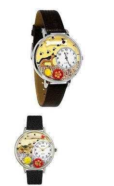 Other Wholesale Wristwatches 40133: Whim-U0130040-Whimsical Watches Unisex U0130040 German Shepherd Black Skin Leat -> BUY IT NOW ONLY: $44.95 on eBay!