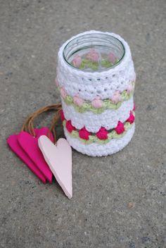 Vårlig heklet lykt. Ren bomull.  #crochet