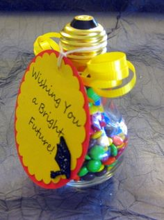 3 Light Bulb Jar Graduation Gift BRIGHT - Thinking about making this myself.