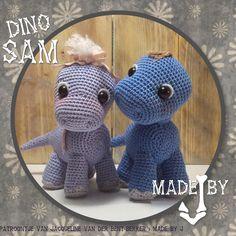 Dino Sam super cute haak kooppatroon made by J op facebook