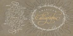 American Calligraphic Font | Webfont & Desktop | MyFonts Great Fonts, New Fonts, Portfolio Booklet, Font Shop, Font Face, Serif, Graphic Design, American, Desktop