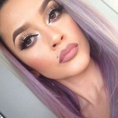 Love this makeup - Monroe piercing Pretty Makeup, Love Makeup, Makeup Tips, Makeup Looks, Hair Makeup, Gorgeous Makeup, Monroe Piercings, Monroe Piercing Jewelry, All Things Beauty