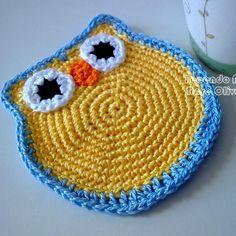 Tecendo Artes em Crochet: Porta Copos Corujinhas!
