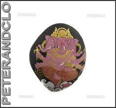 Galet EN Pierre Avec Ganesh Peint A LA Main Porte Bonheur Hindou 6266 | eBay