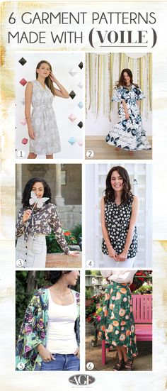 6 Patterns Made with Voile