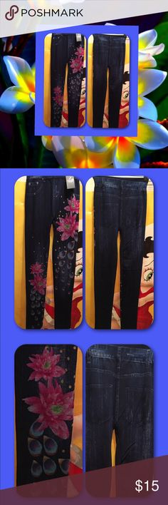 Julia Jean Look  Summer  Leggings -  OS Fits All Look of Jeans 👖. Super Stretch. Fits Small to Extra Large. Julia Jeans Skinny